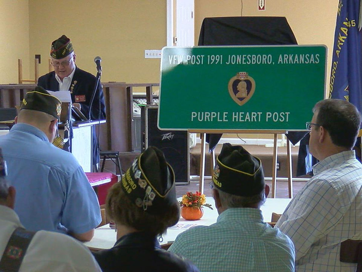 "Jonesboro VFW named ""Purple Heart"" chapter"