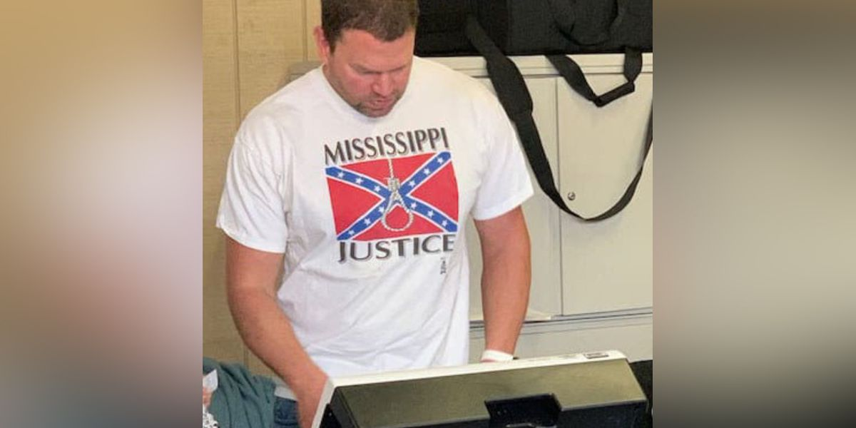 Memphis hospital employee seen wearing shirt with noose, Confederate flag while voting