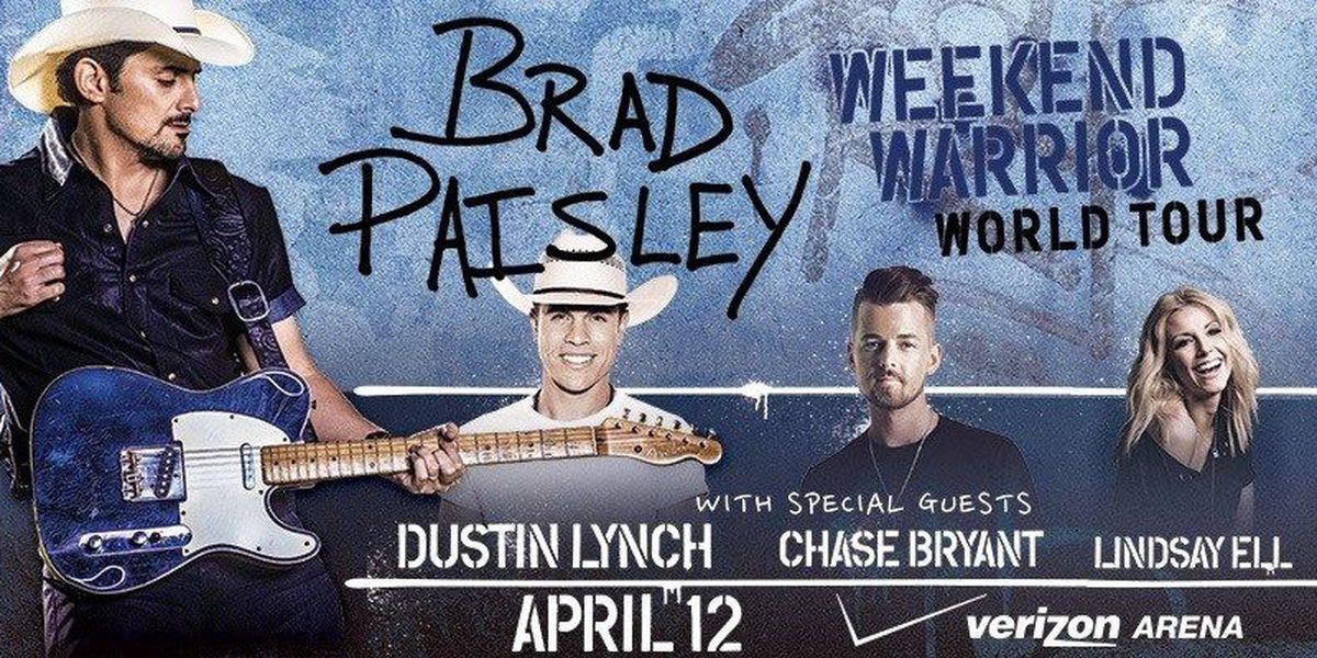 Arkansas added to Brad Paisley tour in 2018