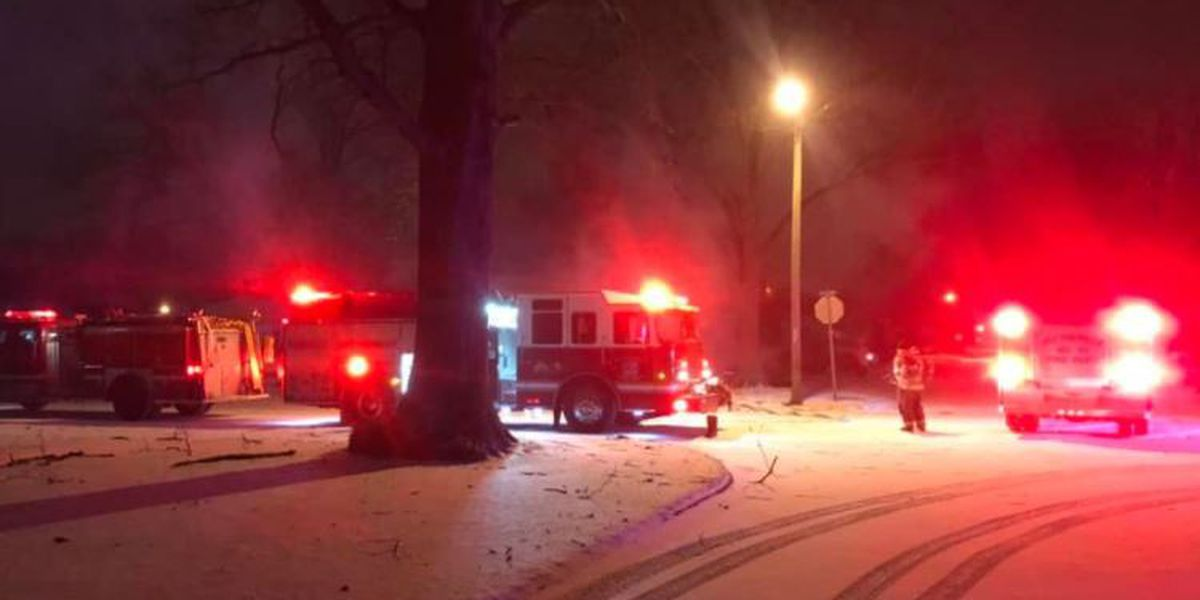 Firefighters battle flames, freezing temperatures