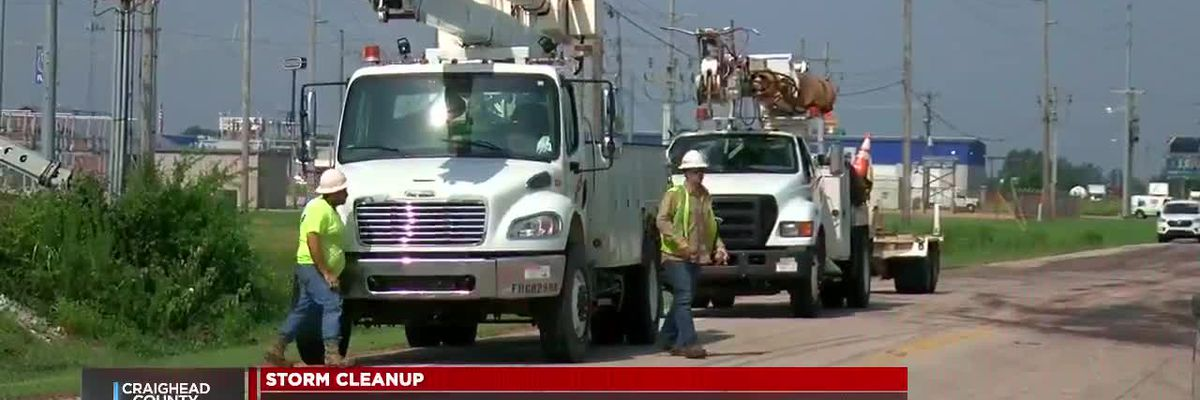 Crews work to restore power