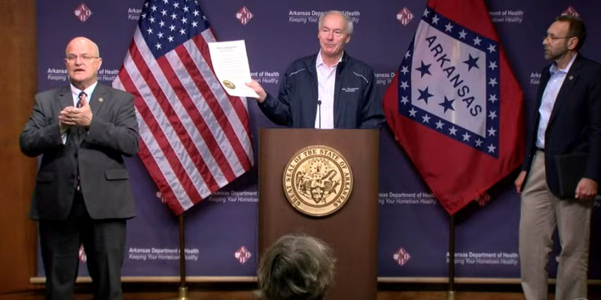 FULL BRIEFING - Gov. Hutchinson and ADH state COVID-19 briefing - 3/29