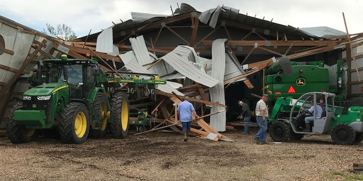 Farm company, crops damaged in northern Dunklin County, Mo.