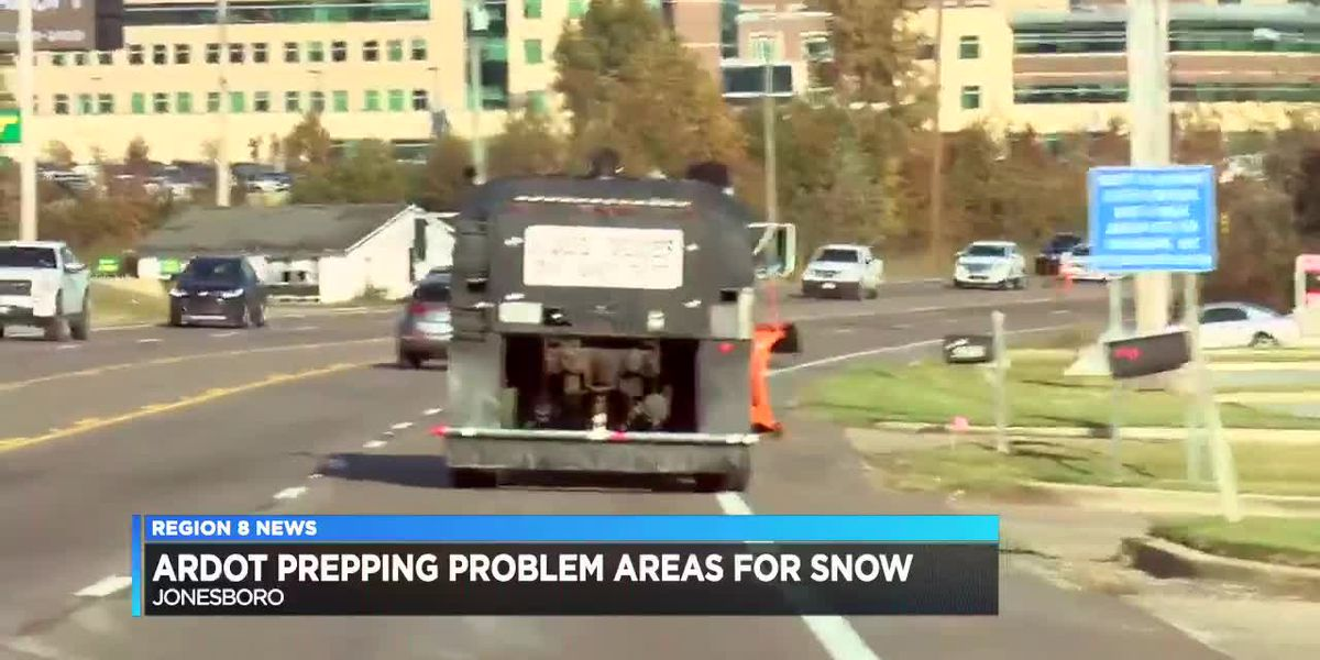 ARDOT begins early road preps for Wednesday night snow