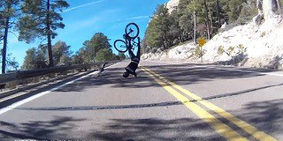 VIDEO: Deer dash results in cyclist crash