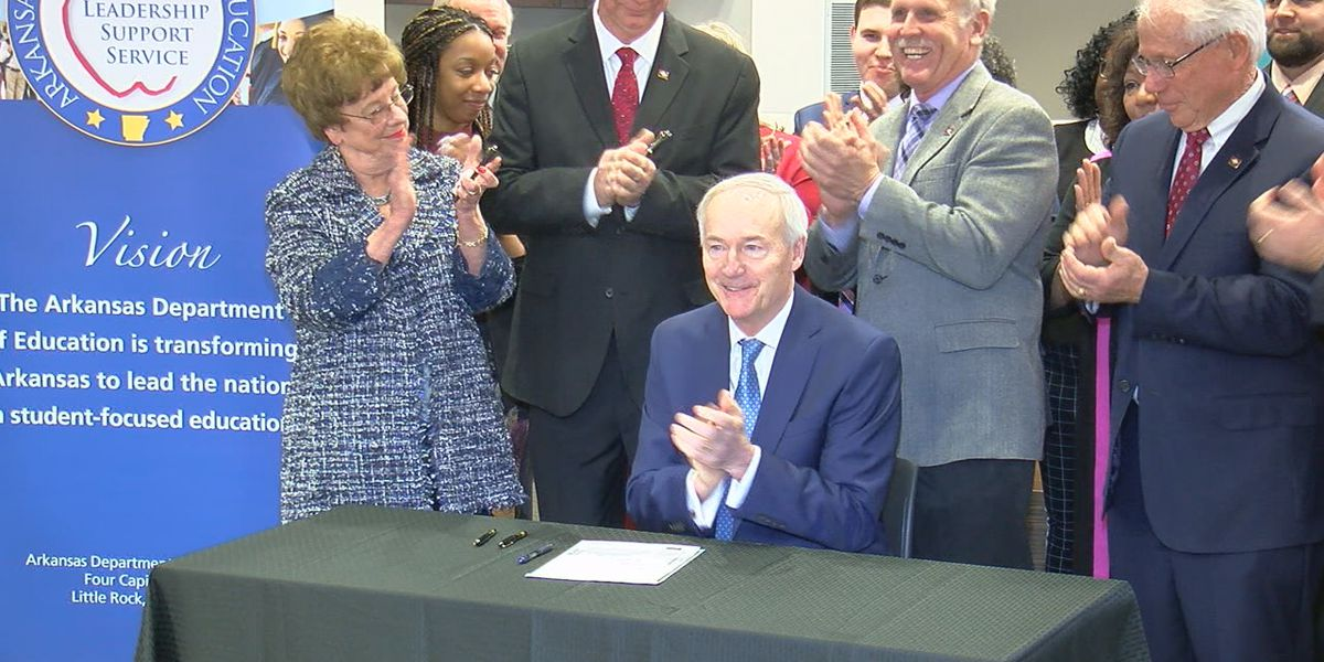 Governor Hutchinson signs bill to increase minimum teacher pay