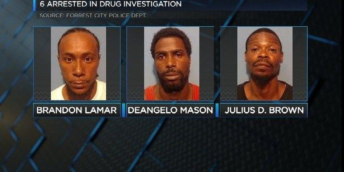 6 arrested after drug investigation in Forrest City