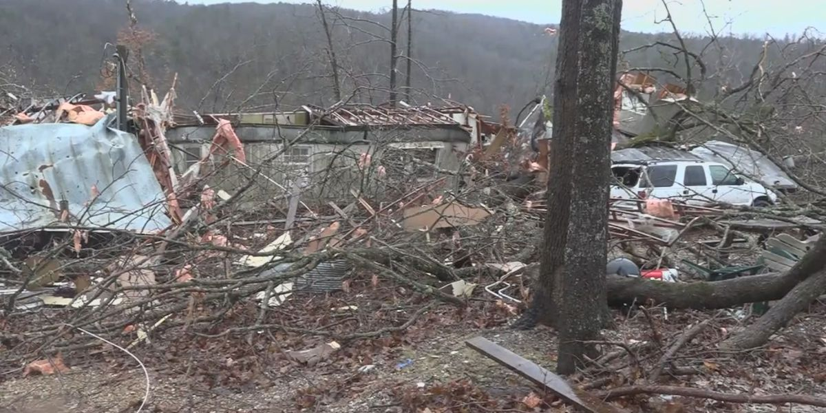 Tornado destroys home near Yellville, traps man for 45 minutes
