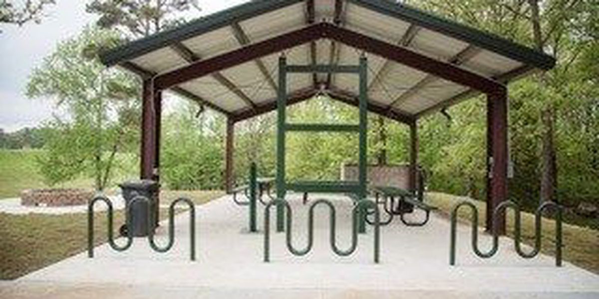 Trailhead for cyclists complete at Craighead Forest Park