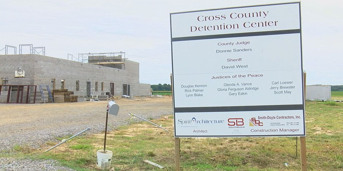 Cross County jail construction almost one month ahead of schedule