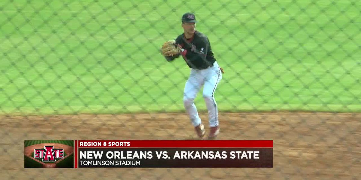 Arkansas State baseball falls to New Orleans 11-0 https://www.kait8.com/2020/02/23/wallace-scores-a-