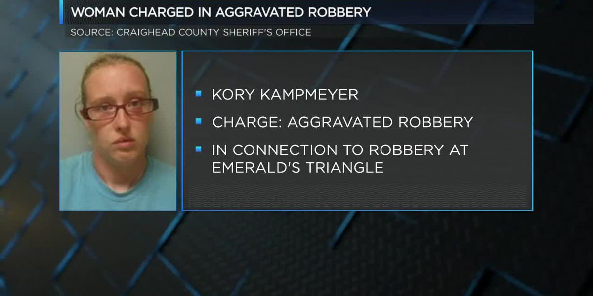 Woman charged in aggravated robbery