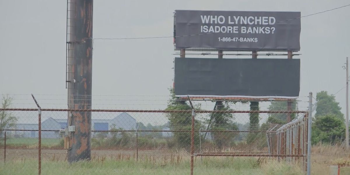 "Billboard asks ""Who lynched Isadore Banks?"""