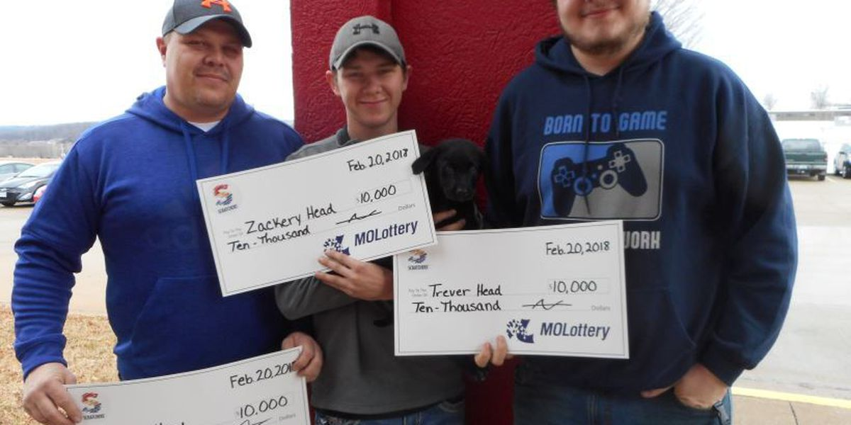Three men and a puppy win $10,000