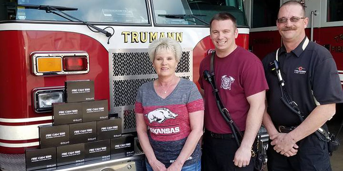 Widow makes generous donation to fire department