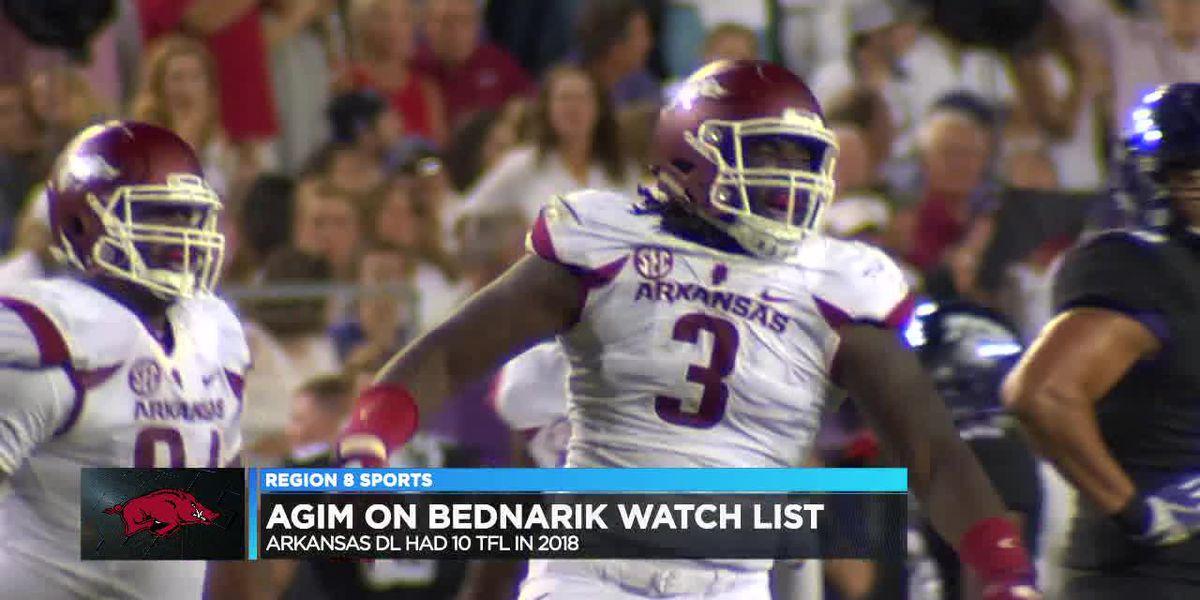 Arkansas DL McTelvin Agim on Bednarik Award watch list