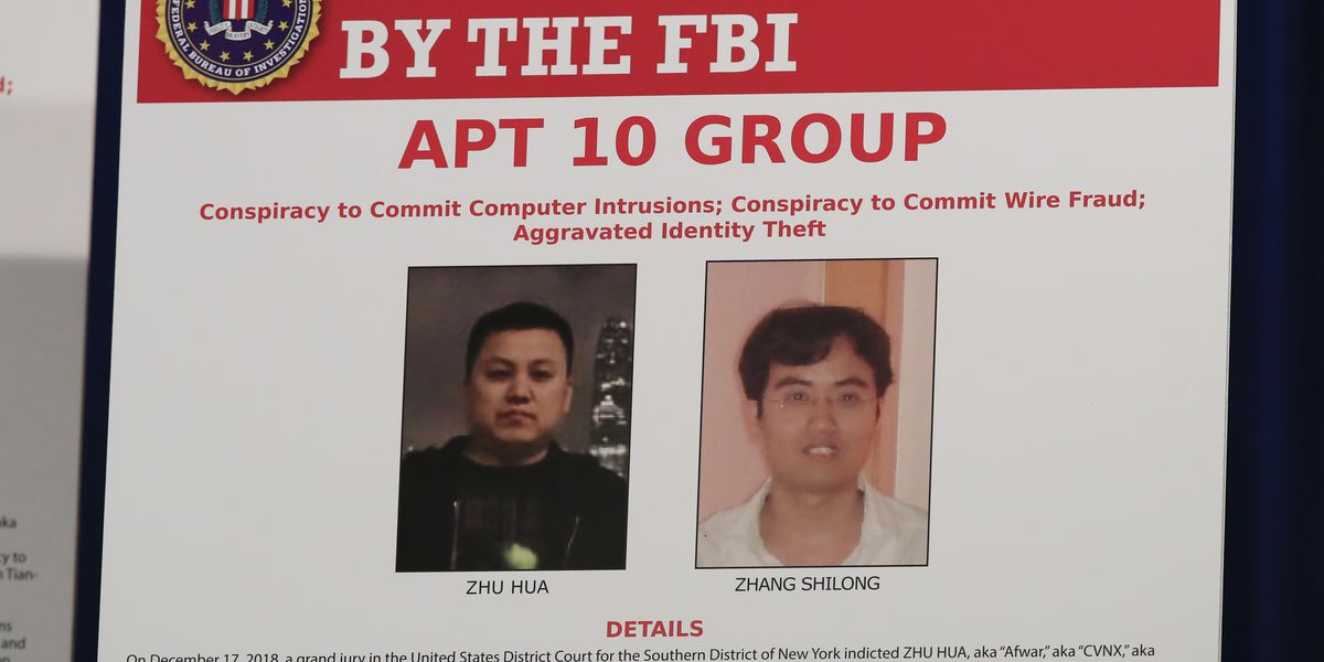 US charges 2 hackers with alleged Chinese intelligence ties