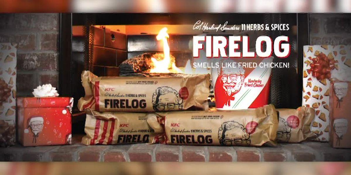 Walmart selling KFC fried chicken-scented firelog